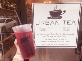 urban tea sign